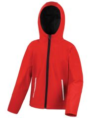 NOSS PRIMARY SCHOOL RED HOODED SOFTSHELL WITH LOGO